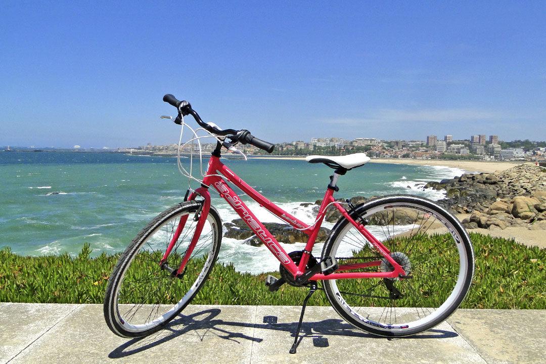 Viajar de bicicleta de Vila Nova de Gaia até Espinho 1