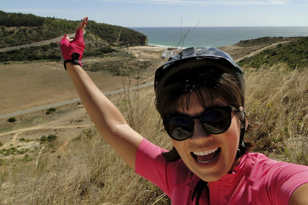 Aquela que viajou de bicicleta pela Ecovia do Litoral do Algarve 1