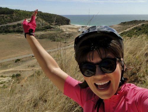 aquelesqueviajamdebicicleta algarve ecoviadolitoraldoalgarve2 500x380 - Aquela que viajou de bicicleta pela Ecovia do Litoral do Algarve